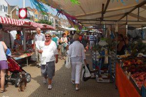Vrijdag wekelijkse markt in Katwijk