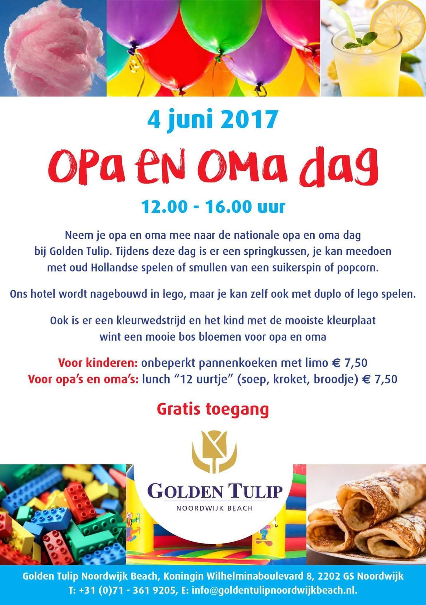 Kleurplaten Over Oma.Opa En Oma Dag Bij Golden Tulip Hotel Noordwijk Beach Bollenstreek